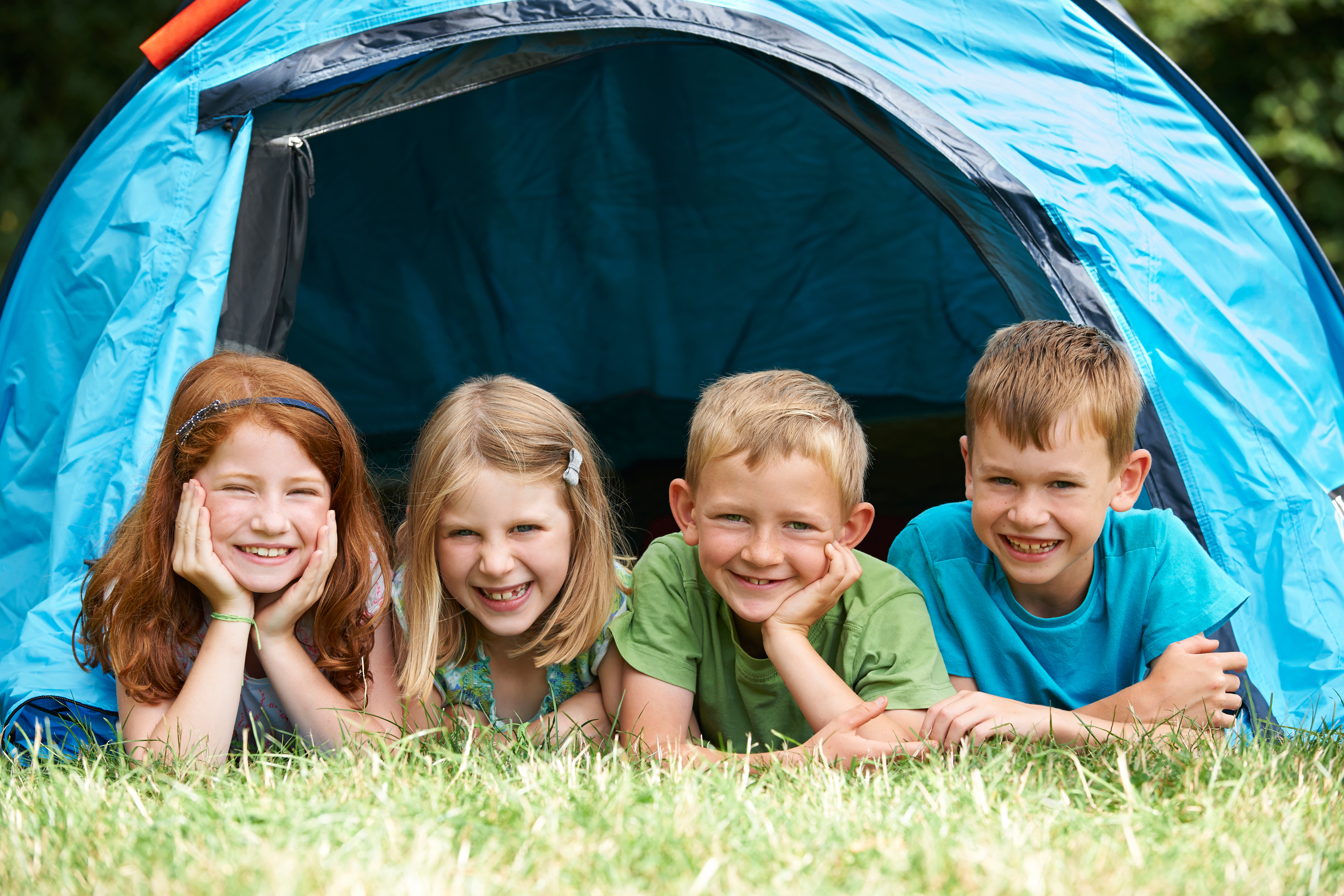 Group Of Children On Camping Trip Together